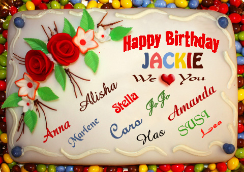 Post Thumbnail of HAPPY, HAPPY Birthday to Jackie a.k.a. Our Quirky Lover!!