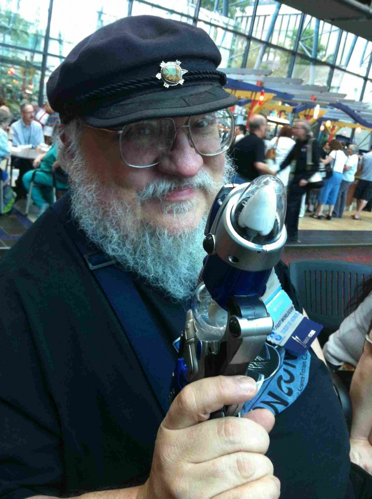 George-RR-Martin-with-raygun-at-Worldcon-2013